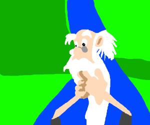 Merlin pondering