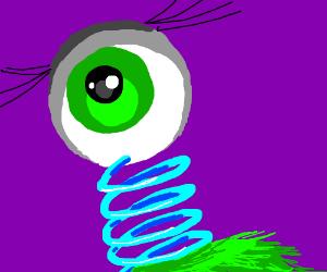 weird eyeball/slinkynecked monster