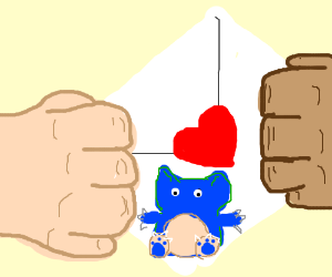 Passing a love note with a Snorlax drawn on it