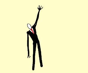Slenderman reaches upwards