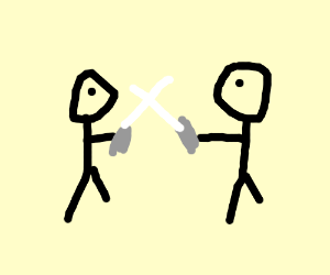 Duel with swords