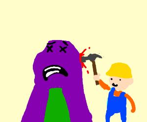 Bob the Builder killing Barney.