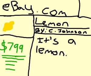 expensive lemon on eBay