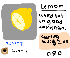 lemon is in used but good condition OBO