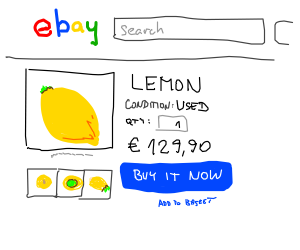Selling used Lemon on Ebay (2 dollars).