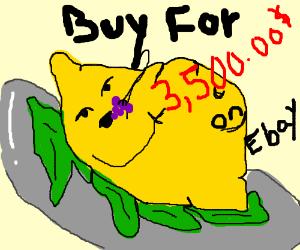 A gourmet lemon sells for 3,500.00 on Ebay!