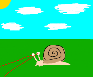 Snail with laser eyes.