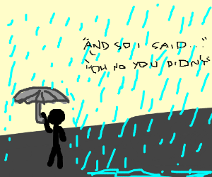 Water droplets are sentient individuals