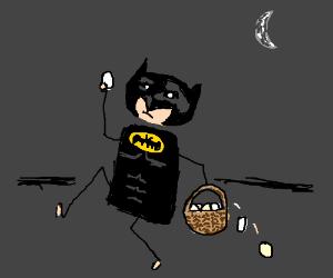 Batman steals eggs at night