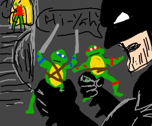 batmanplayin w/ninjaturtles whilebeing watched