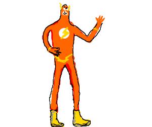 The flash is now orange