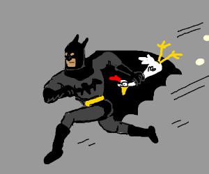 Batman robbed the hen house again