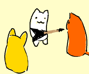 Cats form a heavy metal band