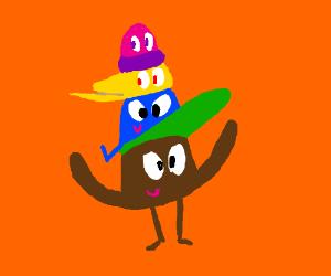 Hats wearing hats