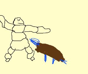 Michelin man raised Blastoise as his own