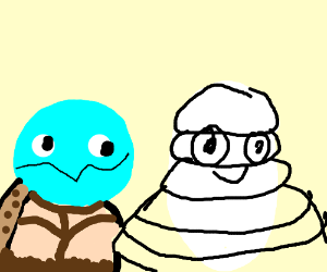 Michelin Man and Squirtle
