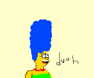 disturbing retarded cartoon lady