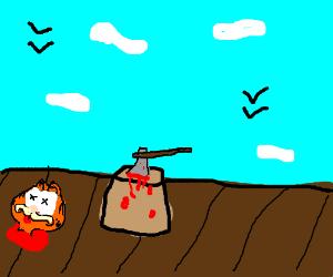 Garfield got exicuted