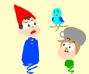 Over The Garden Wall Gravity Falls Style Drawception