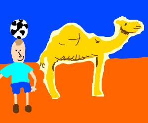 PEPE CROSSED THE SAHARA W/ HIS CAMEL