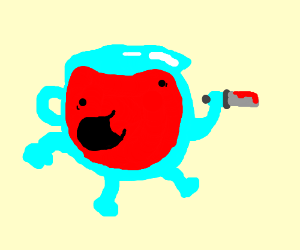 kool aid man coloring pages - what does the color purple taste like drawception