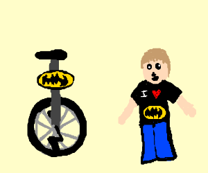 it's the bat unicycle, fanboy impressed