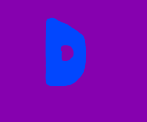 blue D, purple backround