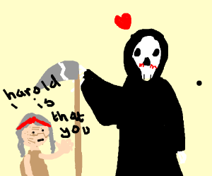 grim reaper in love with old lady matilda