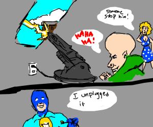 """Original Ideas Man"" stops supervillain's plot"