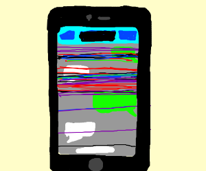 The mobile glitch withthe lines