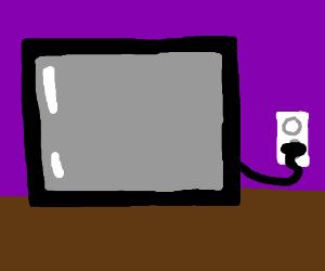 TV plugs self in