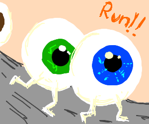 Eyeballs running