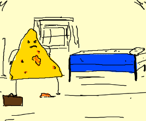 a bed not suitable for nachos