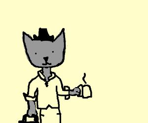 Man transform into cat