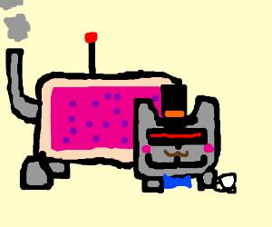 fancy cyborg nyan cat
