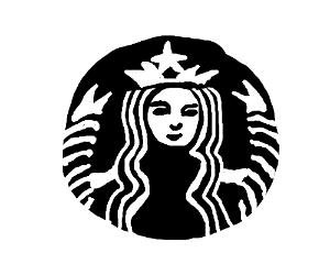 BW Starbucks Logo Drawing By Starfast