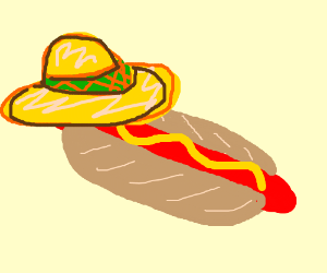 Mexican stereotype hotdog