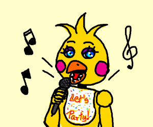 Cute Chica singing a song
