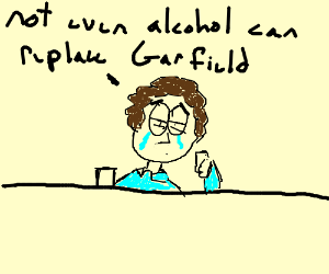 John drinks the pain away when Garf leaves