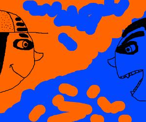 blue gangster vs blue vampire