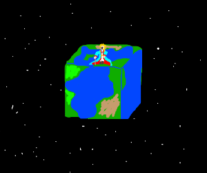 The little prince on a cubed planet