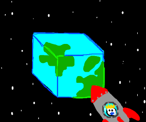 the little prince visits a cubic planet