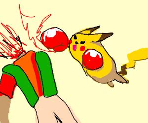 Communist pikachu punches brock's head off
