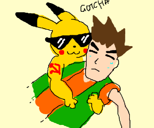 Comrade Pikachu catches Brock