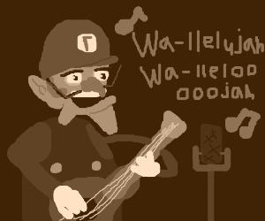 Waluigi becomes a musician (with a banjo)