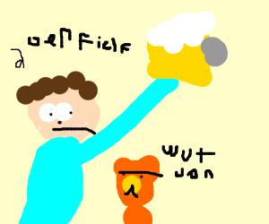 Jon Arbuckle is drunk (garfield)