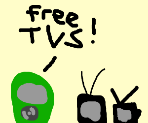 faces look at tvs