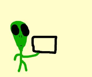 alien giving away free tvs
