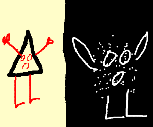 Triangle Girl hates Particle Girl.