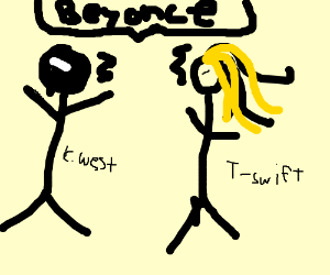T-Swift and Kanye West argue about Beyonce.